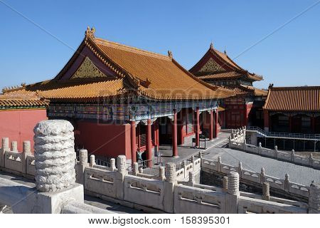 BEIJING - FEBRUARY 23: Forbidden City, Beijing, China, February 23, 2016.