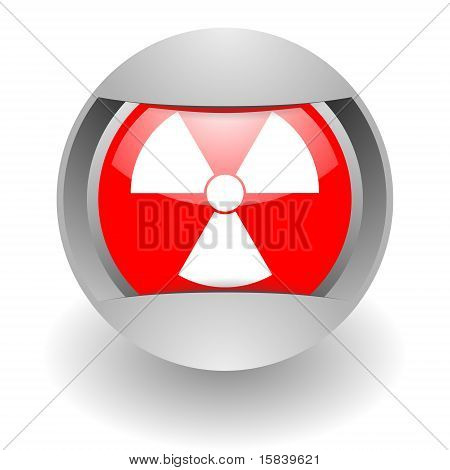 nuclear steel glosssy icon