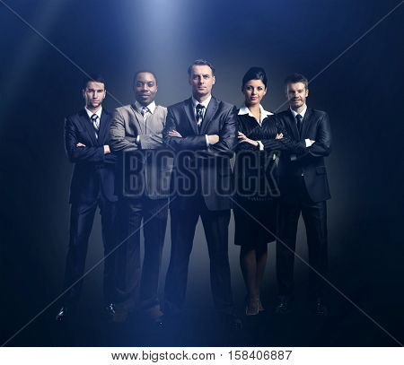 Large group of people full length isolated
