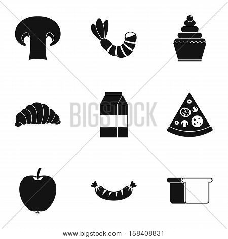 Morning breakfast icons set. Simple illustration of 9 morning breakfast vector icons for web