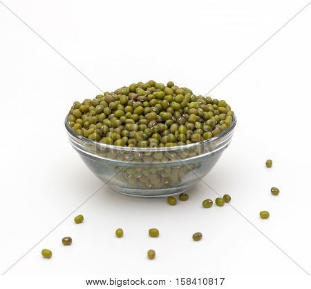 mung beans isolated on a white background