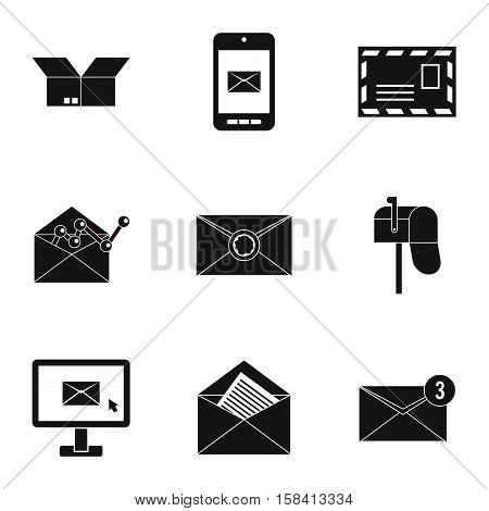 Communication icons set. Simple illustration of 9 communication vector icons for web