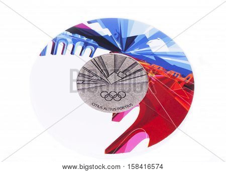 Torino 2006 Olympic Games Participation Medal, Reverse. Kouvola, Finland 06.09.2016.
