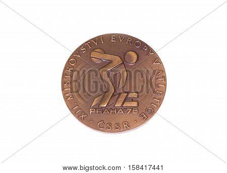 Prague 1978 Athletics European Championships Participation Medal, Obverse. Kouvola, Finland 06.09.20
