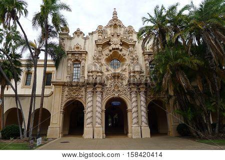 San Diego - October 28: Casa Del Prado on October 28, 2015 in Balboa Park of San Diego