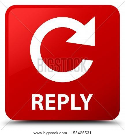 Reply (rotate Arrow Icon) Red Square Button