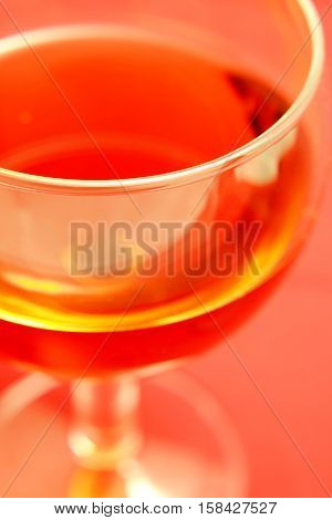 Background with the image of a glass of wine