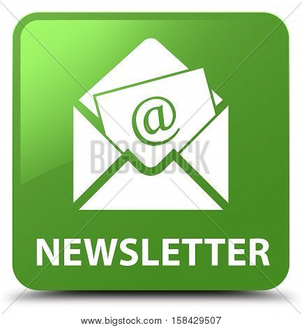 Newsletter (address icon) soft green square button