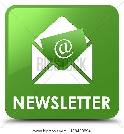 Newsletter (adddress icon) soft green square button