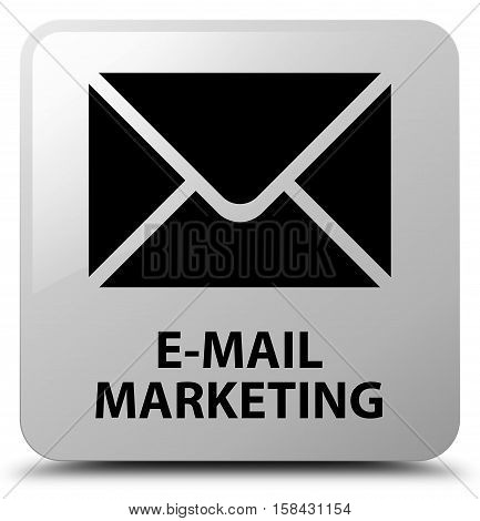 E-mail marketing (email icon) white square button