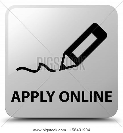 Apply Online (edit Pen Icon) White Square Button