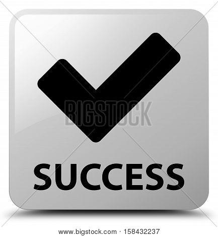 Success (validate icon) on white square button