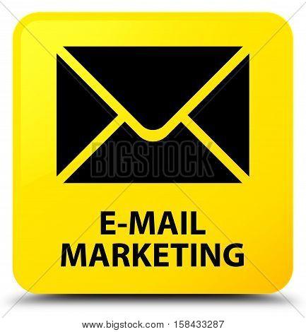 E-mail marketing (envelop icon) yellow square button