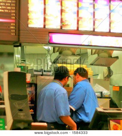 Personal de la comida rápida