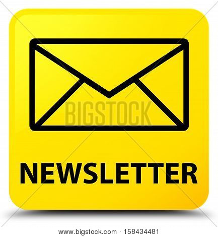 Newsletter (envelop icon) on yellow square button