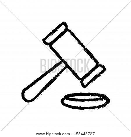 Gavel justice law icon vector illustration graphic design