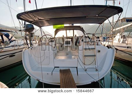 Back View Sailing Boat