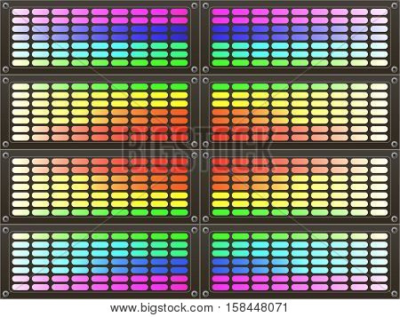Abstract colorful rainbow background. Rainbow gradient equalizer.