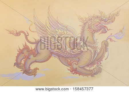 Chiang Rai THAILAND - November 13 2016: Mural paintings inside the Famous white temple Wat Rong Khun Chiang Rai province northern Thailand/ Chiang Rai province northern Thailand. Buddhists to learn the culture and their implementation of painting.
