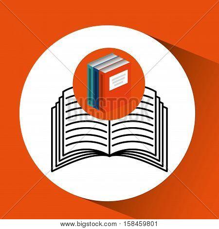 library books school e-learning vector illustration eps 10