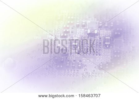 Light Silhouette Of Pc Circuit Board Suitable As A Background For Your Business Presentation