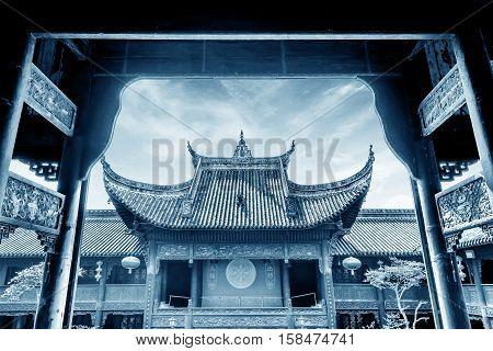 Ancient temple in honor of ancestors(King Yu temple -a famous tribal leader on Chinese legends) -Chongqing China.