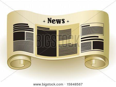 News - Vintage Paper Scroll