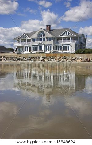 Beach House with a Reflection