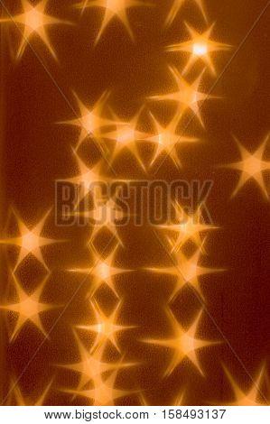 orange stars six points light as background