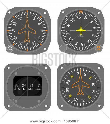 Aircraft instruments set #1