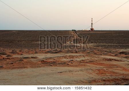Drilling sunset.
