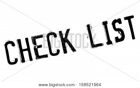 Check List Stamp