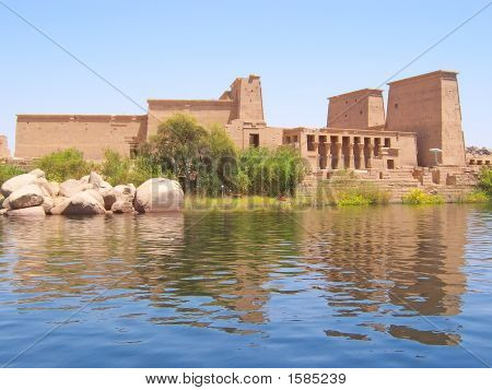 Philae Egyptian Temple On An Island On The Nil, Assouan, Egypt
