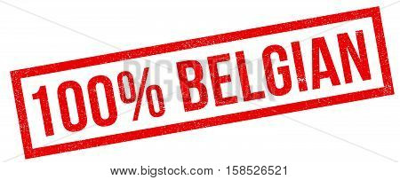 100 Percent Belgian Rubber Stamp