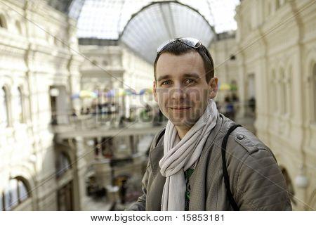 Portrait of happy smiling man