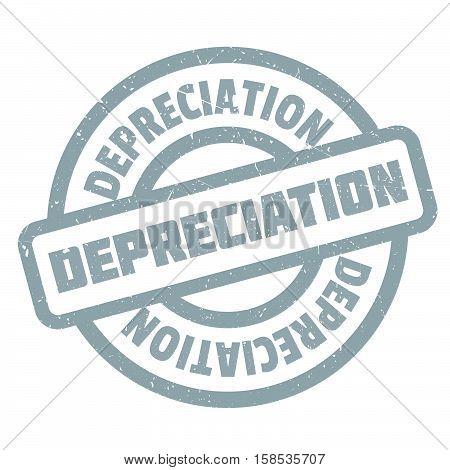 Depreciation Rubber Stamp