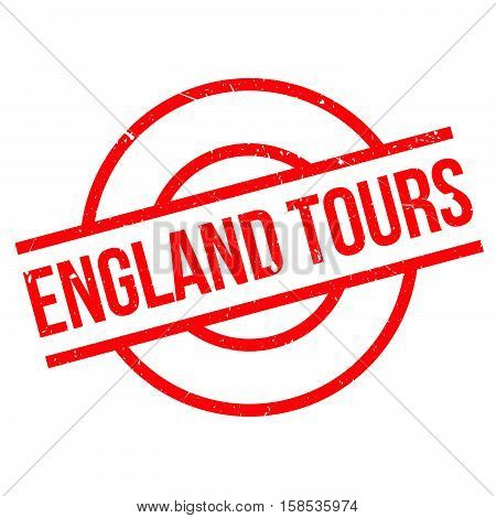 England Tours Rubber Stamp