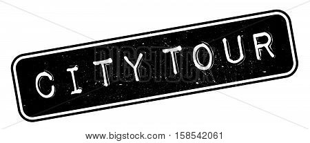 City Tour Rubber Stamp