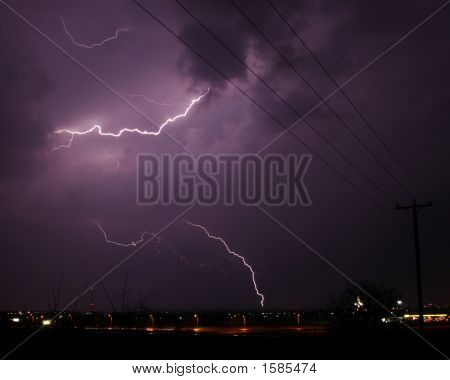 Lightning Strike To Cloud