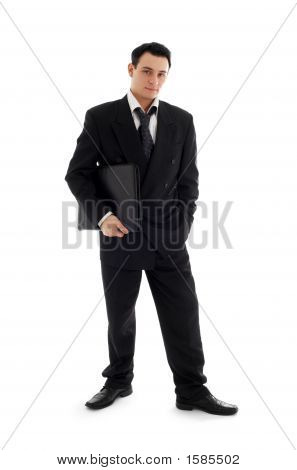 Businessman With Black Folder #3