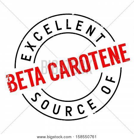 Excellent Source Of Beta Carotene Stamp