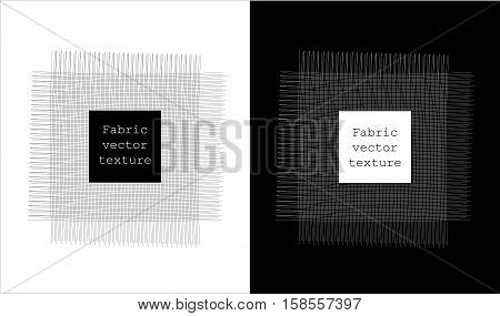 Canvas texture illustration templates patterns on blac and white background