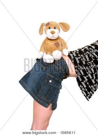 Soft Toy Dog And Girl