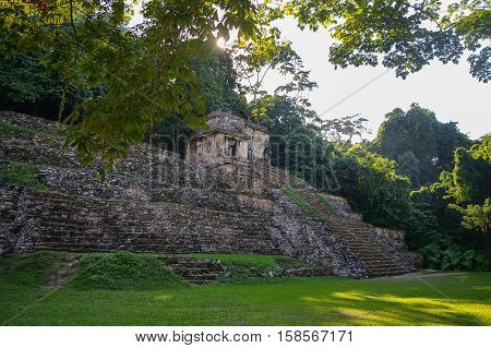Mayan ruins in Palenque Chiapas state, Mexico.