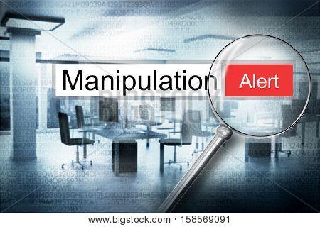 reading manipulation browser search alert 3D Illustration