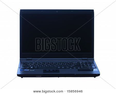 Professional Laptop Isolated In White Background