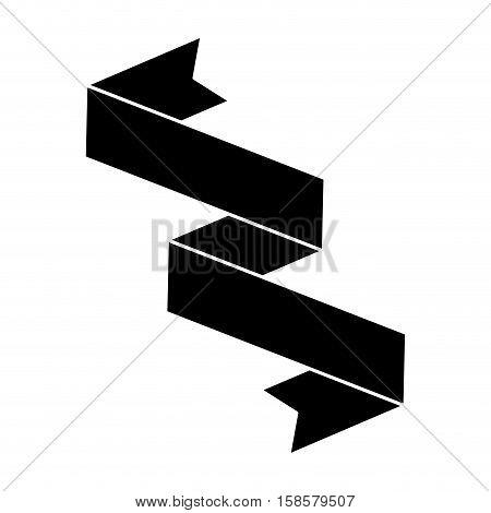 silhouette black ribbon banner icon vector illustration eps 10