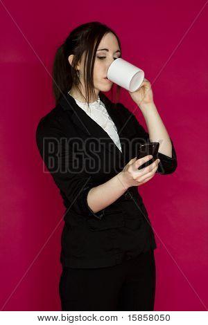 Multi-tasking Business Woman