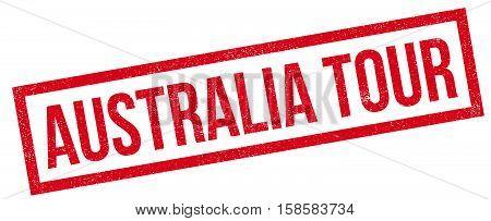 Australia Tour Rubber Stamp