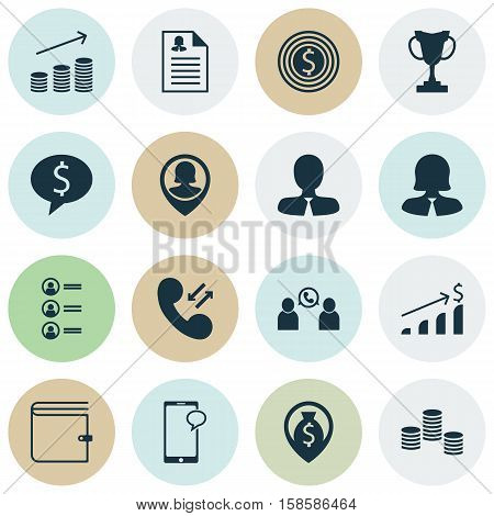 Set Of Management Icons On Business Goal, Manager And Cellular Data Topics. Editable Vector Illustration. Includes Increase, Opinion, Cup And More Vector Icons.